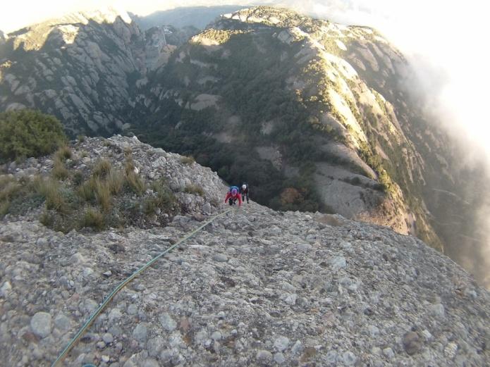Aquí llegan Susana y Manu! Manu iba conmigo en corda y Susana con Mireia que aún estaba en la R anterior.