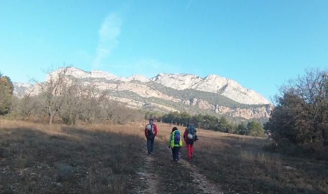 a camino del Serrat del Coniller