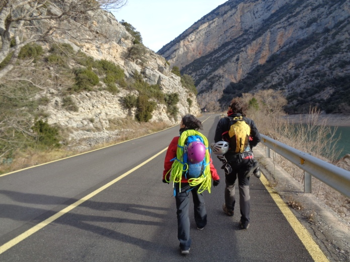 La mejor parte de la vía... la aproximación... cuando la miras y caminas hacia la pared...