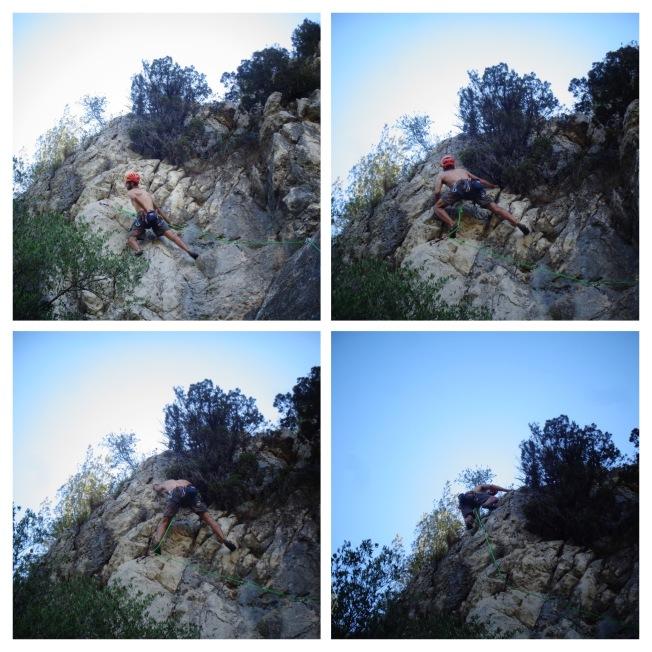 Situación de la cuerda en Papa vui ser torero R2 que puede llevar a que el/la escalador/a se vuelque al caer.