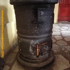 La estufa de leña